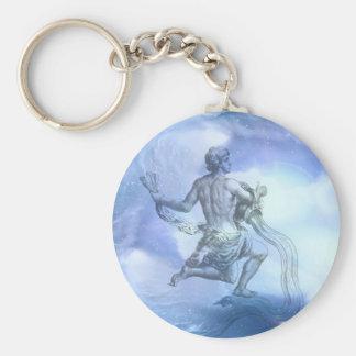 Age of Aquarius Zodiac Keychain