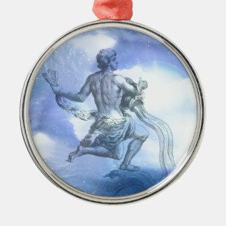 Age of Aquarius Zodiac Metal Ornament