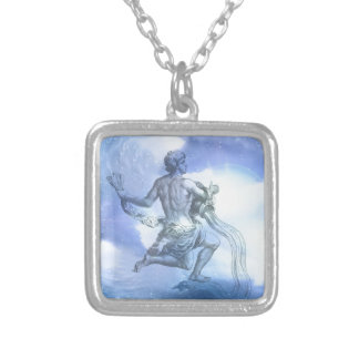 Age of Aquarius Zodiac Silver Plated Necklace