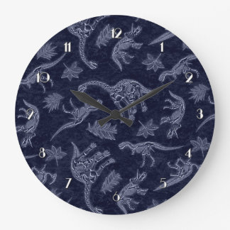 Age Of Dinosaurs Skeleton Pattern Wall Clock 2