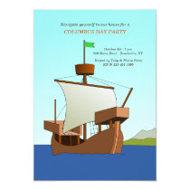 Age of Discovery Columbus Day Invitation