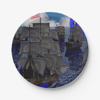 Age of Discovery Sailing faceconomics Paper Plate