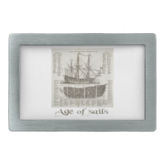 Age of Sails Rectangular Belt Buckle