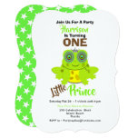 Age One 1st Birthday One Little Prince Cute Invitation