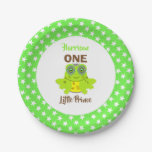 Age One 1st Birthday One Little Prince Cute Paper Plate