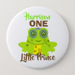 Age One 1st Birthday One Little Prince Cute Pinback Button