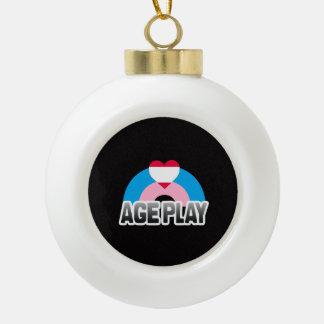 Age Play Pride Ceramic Ball Christmas Ornament