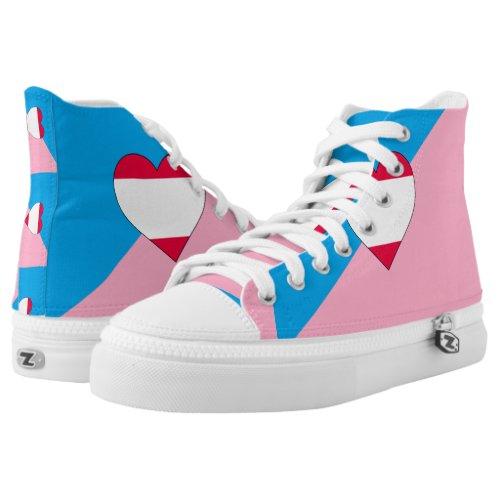 Age Play Pride Flag High-Top Sneakers