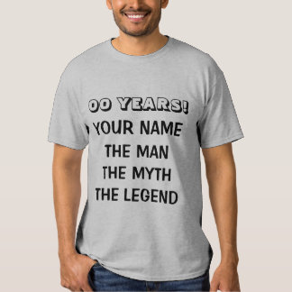 Age specific Birthday t shirt the man myth legend