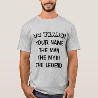 Age specific Birthday t shirt the man myth legend