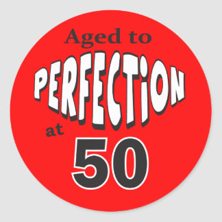 Age to Perfection at 50 | 50th Birthday Classic Round Sticker