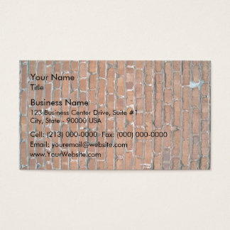 Aged and Damaged Light Brown Brick Wall Business Card