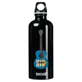 Aged and Worn Alberta Flag Acoustic Guitar SIGG Traveler 0.6L Water Bottle