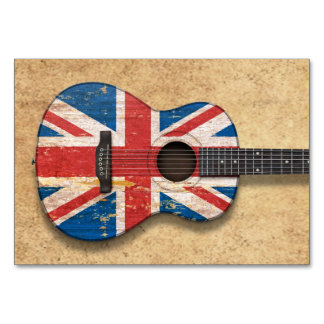 Aged and Worn British Flag Acoustic Guitar Card