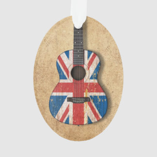 Aged and Worn British Flag Acoustic Guitar Ornament