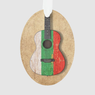 Aged and Worn Bulgarian Flag Acoustic Guitar Ornament