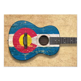 Aged and Worn Colorado Flag Acoustic Guitar Custom Announcement