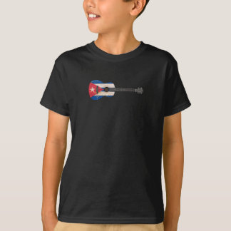 Aged and Worn Cuban Flag Acoustic Guitar T-Shirt