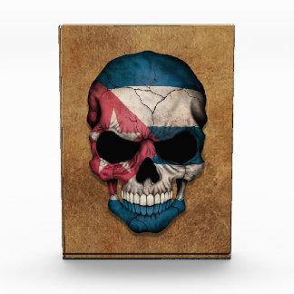 Aged and Worn Cuban Flag Skull Award