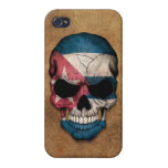 Aged and Worn Cuban Flag Skull Case For iPhone 4