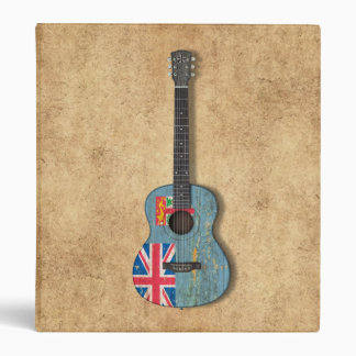 Aged and Worn Fiji Flag Acoustic Guitar Binders