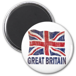AGED AND WORN GREAT BRITAIN FLAG MAGNET