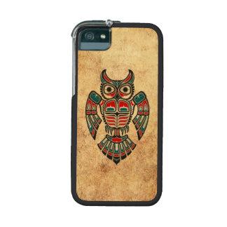 Aged and Worn Haida Spirit Owl iPhone 5/5S Covers