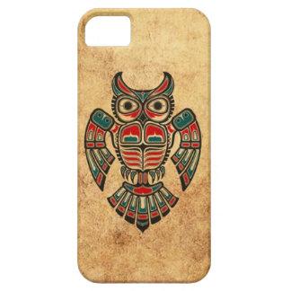 Aged and Worn Haida Spirit Owl iPhone 5 Covers