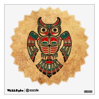 Aged and Worn Haida Spirit Owl Wall Graphics