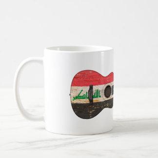 Aged and Worn Iraqi Flag Acoustic Guitar Coffee Mug