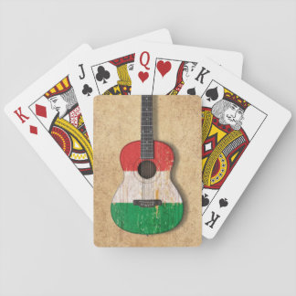 Aged and Worn Italian Flag Acoustic Guitar Card Decks