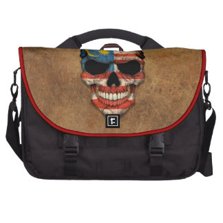 Aged and Worn Malaysian Flag Skull Commuter Bags