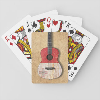 Aged and Worn Maltese Flag Acoustic Guitar Deck Of Cards