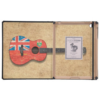 Aged and Worn Manitoba Flag Acoustic Guitar Covers For iPad
