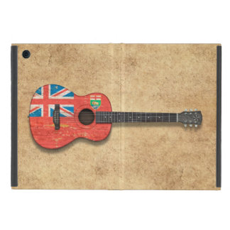 Aged and Worn Manitoba Flag Acoustic Guitar iPad Mini Cases