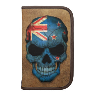 Aged and Worn New Zealand Flag Skull Planner