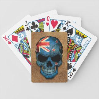 Aged and Worn New Zealand Flag Skull Card Decks