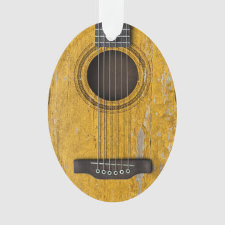 Aged and Worn Old Acoustic Guitar Ornament