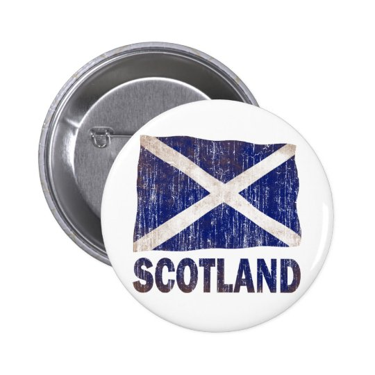 AGED AND WORN SCOTLAND FLAG PINBACK BUTTON