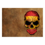 Aged and Worn Spanish Flag Skull Business Cards