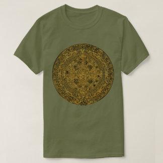 Aged Aztec Mayan Sun Stone Calendar T-Shirt