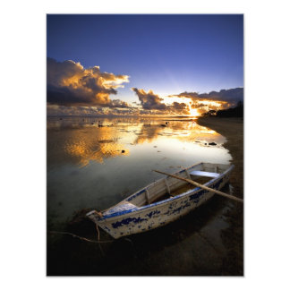 Aged Boat in Crystal Water Photo
