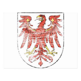 Aged Brandenburg coat of arms Postcard