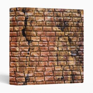 Aged Brick Wall Textured Vinyl Binder