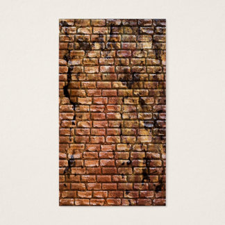 Aged Brick Wall Textured Business Card