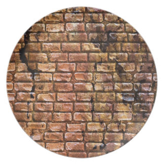 Aged Brick Wall Textured Dinner Plate