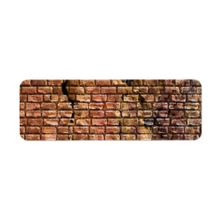 Aged Brick Wall Textured Return Address Label