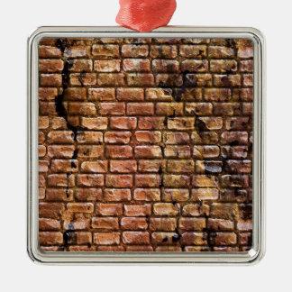 Aged Brick Wall Textured Christmas Ornaments
