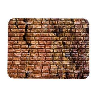 Aged Brick Wall Textured Rectangular Photo Magnet