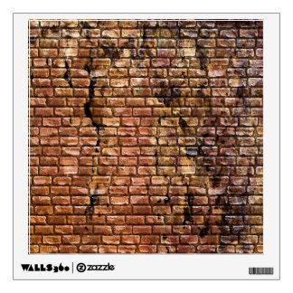 Aged Brick Wall Textured Room Decal